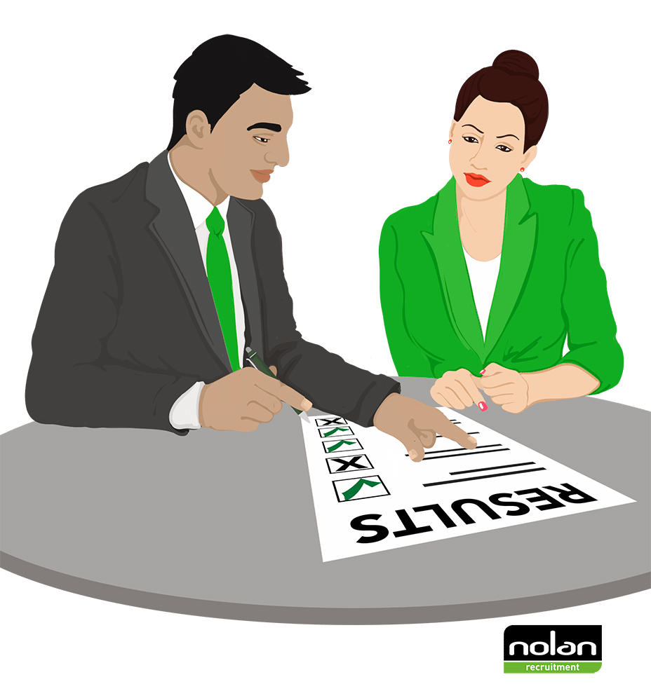 What happens after a psychometric test?